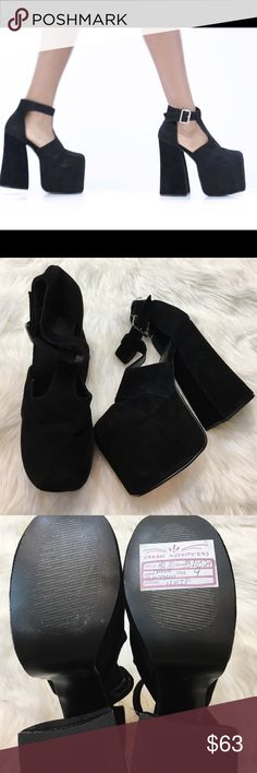 NEW UNIF Dame Suede Platforms Brand new never worn, still has UO sale tag on bottom. Some very slight lighter parts on the suede. Totally sold out. Grab em for this price while you can! Price FIRM UNIF Shoes Platforms