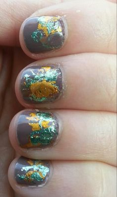 Foil nails over sephora opi metro chic