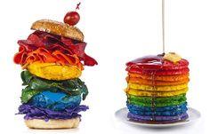 Taste the Rainbow Henry Hargreaves 'Food of the Rainbow' - mashKULTURE Rainbow Pancakes, My Husband Birthday, Sons Birthday, Unicorn Foods, Rainbow Food, Rainbow Things, Rainbow Stuff, Good Food, Yummy Food