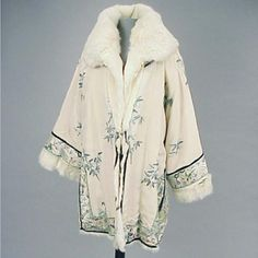 Fur Lined Embroidered Jacket for Sale at Auction on Wed, 05/22/2002 - 07:00 - Couture, Textiles and Accessories | Doyle Auction House