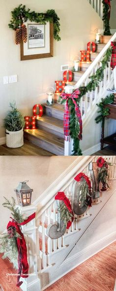100 Favorite Christmas decorating ideas for every room! Lots of great tips to a. 100 Favorite Christmas decorating ideas for every room! Lots of great tips to apply to your own home easily with gorgeous DIY Christmas decorations! Noel Christmas, Rustic Christmas, Christmas Projects, Simple Christmas, Winter Christmas, Christmas Lights, Christmas Wreaths, Christmas Island, Christmas 2019
