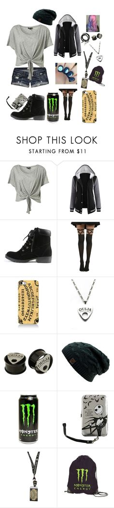 """""""Untitled #161"""" by lexaguilbert ❤ liked on Polyvore featuring Hot Topic, Moonchild and Therapy"""