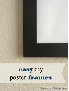 We recently needed three 18x24 poster frames for some LEGO wall art in our oldest son's bedroom. We were surprised to find that they can be a little on the spendy side, coming in at around $12-20 a piece. That's pretty steep, considering that we only had about $7 into the 3 posters we were trying to frame! Fortunately, we were looking for something that wasn't very ornate, so I decided to make some from plain old 1x2 pre-primed MDF boards. Total cost: Less than $4/frame Time ...