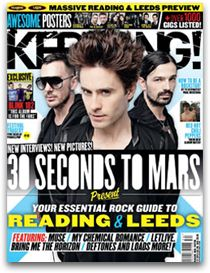 Kerrang magazine Jared Leto 30 Seconds to Mars Reading and Leeds Blink 182 Thirty Seconds, 30 Seconds, Magazine Front Cover, Magazine Covers, Paul Mckenna, Pop Magazine, Calming Colors, Shannon Leto, Music Magazines