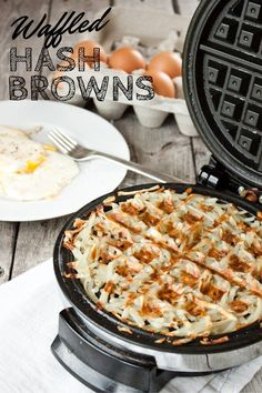 The easiest way to cook crispy hash browns! Waffled Hash Browns   simplerootswellness.com