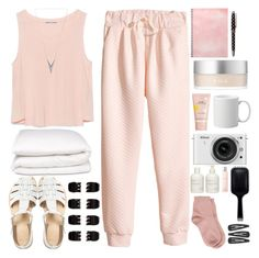 """""""Lazy day..."""" by ellie-xxix-799 ❤ liked on Polyvore featuring beauty, H&M, Zara, Kate Spade, RMK, Marc Jacobs, Maria La Rosa, Nikon, Sans [ceuticals] and Lancôme"""