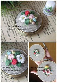 Gallery.ru / Photo # 57 - Embroidered berries in different techniques - kseny-k