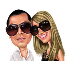 Custom Digital Painting Style Caricature - Personalised Gift - Caricature From Your Photo