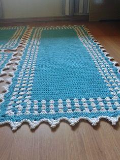 Crochet Carpet, Crochet Home, Crochet Gifts, Crochet Doilies, Free Crochet, Sewing Circles, Crochet Table Runner, Knitted Blankets, Beautiful Crochet