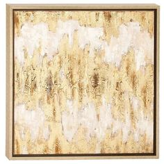 Gold and glam and modern art wall art for your home.   Golden Foil Framed Canvas | Weekends Only Furniture and Mattress