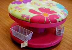 cushioned spool makes a great stool!