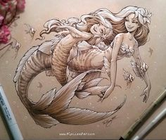 Mermaids by kelleeart on deviantart