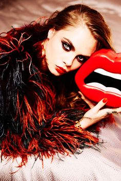 Cara Delevingne by Ellen von Unwerth for Sunday Times Style February 28th 2016