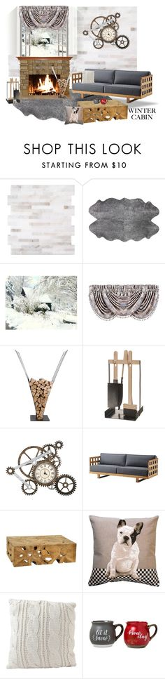 """Cozy Cabin Style"" by ladygroovenyc ❤ liked on Polyvore featuring interior, interiors, interior design, home, home decor, interior decorating, Amara, J. Queen New York, AK47 and Iris Hantverk"