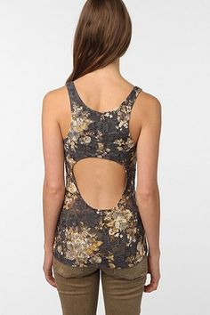 fd2bcdfd0040e Pins and Needles Floral Lace Backless Tank Top