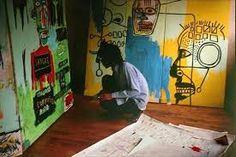 Resultado de imagem para Jean Michel Basquiat atrás
