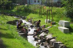 Landscape Gardening In Japan Landscape And Urbanism, Landscape Plans, Landscape Design, Rain Garden, Water Garden, Landscape Engineer, Wetland Park, Eco City, Water Management
