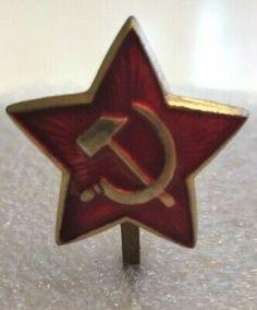 Blue Star Badge Pin Enamel Army Military Merit Award Prize Biker