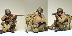 Weathered WWII US 1st Infantry 1/6 Scale Action Figure - Military Miniatures HQ