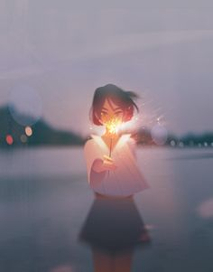 Illustrations Capture Under-Appreciated Moments of Solitude Digital Art by Jenny Yu.Digital Art by Jenny Yu. Art Anime Fille, Anime Art Girl, Manga Art, Anime Girls, Aesthetic Art, Aesthetic Anime, Pretty Art, Cute Art, Meer Illustration