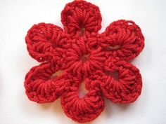 Crochet Spot » Blog Archive » Crochet Pattern: Simple Six Petal Flower - Crochet Patterns, Tutorials and News