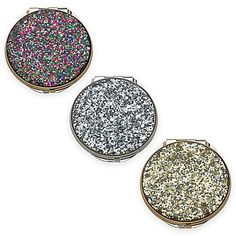 2982f71fb4fb Add a touch of shimmering style to any touch-up with the lovely Simply  Sparkling Glitter Compact Mirror from kate spade new york.