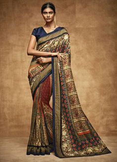Marvelous Multicolor Printed Saree  https://www.ethanica.com/products/marvelous-multicolor-printed-saree-2