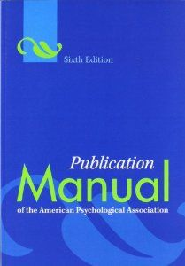 Publication Manual of the American Psychological Association (6th Edition) by American Psychological Association