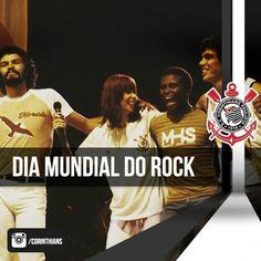 Sport Club Corinthians Paulista - Dia Mundial do Rock - Seja em um ritmo mais melódico ou mais pesado. O canto é sempre o mesmo... Vai, Corinthians! #VaiCorinthians #Corinthians #Timão #Alvinegro #Fiel #DiaMundialDoRock