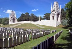 Stunning: He also built the Etaples Military Cemetery (pictured), situated on the north-west coast of France