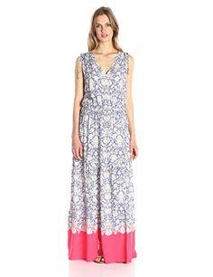 Women's Sleeveless Multi-Tiered Maxi Dress