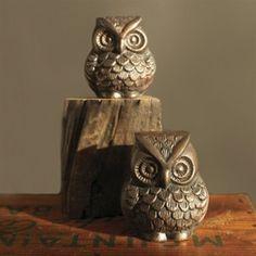 metal owls decor