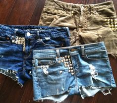 ....got the goodwill jeans - gotta get the girls some studs to make their hip shorts.... :)