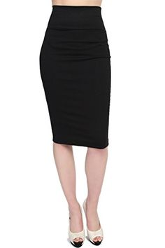 TheMogan Women's High Waisted Bodycon Midi Pencil Skirt Black XL  Special Offer: $14.99  411 Reviews The secret to casually elegant style lies in this ponte midi skirt.Show off your dangerous curves in this body hugging, head turning pencil skirt with this solid bottoms!Work...