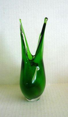 Vintage Cenedese Murano Sommerso Glass Vase. #ModernThanksgiving