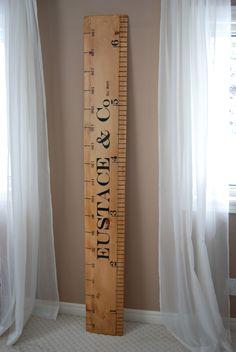 Beautiful Handmade Ruler Growth Chart / Wooden Giant Ruler / Growth Chart. $80.00, via Etsy.