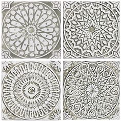 4 Moroccan Wall Hangings Made From Ceramic Set of 4 Moroccan Wall Art... ($306) ❤ liked on Polyvore featuring home, home decor, wall art, home & living, home décor, silver, wall décor, wall hangings, ceramic home decor and photo wall hanging