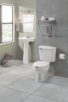 Bathroom Floor Tiles, Bathroom Art, Bathroom Layout, Master Bathroom, Home Depot, Toilet, Green, Apartment Bathroom Design, Green Bathrooms