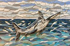 The #marlin #mosaic is finished! #fish #art
