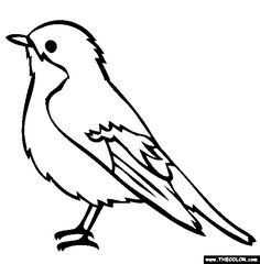 bird coloring page. others at this site