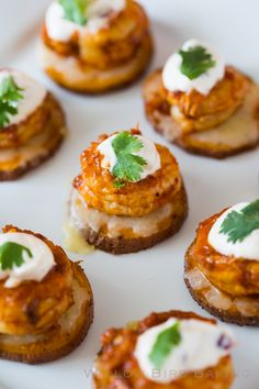 Cheesy Chipotle Shrimp Sweet Potato Coins: a recipe for an incredibly delicious, easy appetizer that really is the perfect bite!