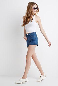 Mid-Rise Denim Shorts | Forever 21 - 2000078394