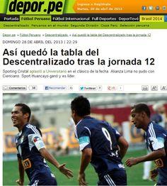 La web de depor.pe hace un resumen de la fecha 12 del torneo descentralizado peruano