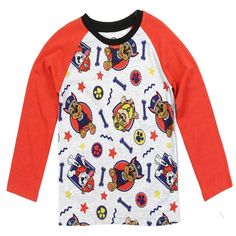 Infuse your little one's look with the vibrant colors and familiar faces of this Paw Patrol-bedecked top. An ultrasoft cotton fabric feels soft-to-the-touch. Paw Patrol Outfit, Nick Jr Paw Patrol, Boys Shirts, Toddler Boys, Boy Outfits, Kids Fashion, Pajamas, Sweatshirts, Long Sleeve