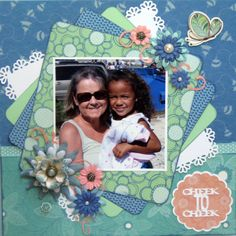 CHEEK TO CHEEK - Scrapjazz.com scrapbook page layout