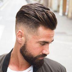Mens Hairstyles With Beard, Undercut Hairstyles, Hair And Beard Styles, Haircuts For Men, Cool Hairstyles, Short Hair Styles, Men Undercut, Hairstyle Ideas, Medium Hairstyles