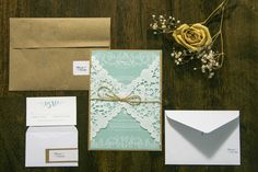 Rustic Chic wedding invitations by Much Love Designs