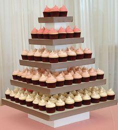 Ombre wedding cupcakes - so trendy! Orange Cupcakes, Wedding Cakes With Cupcakes, Cupcake Wedding, Cupcake Frosting, Diy Cupcake, Cupcake Display, Mini Cakes, Let Them Eat Cake, Dessert Table