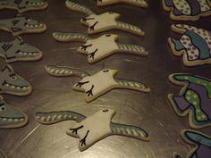 Seagulls Cookies.... Log House Cookies