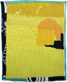 Small art quilt contemporary abstract : Karen Anne Glick